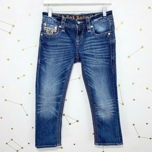 Rock Revival • Betty Capri Jeans Distressed Bling